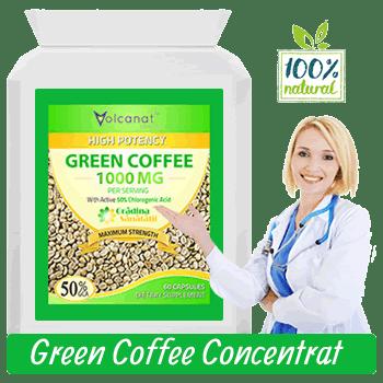 Extract din Boabe de Cafea Verde cu 2000mg la Doza Zilnica