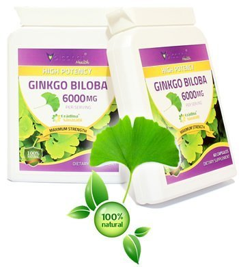 Extract din Ginkgo Biloba 6000 Mg - Produs in Anglia