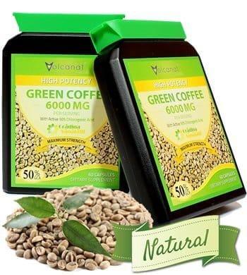 Green Coffee 6000 Mg Capsula - 12000 Mg Doza Zilnica - Foarte Concentrat - Produs in Anglia