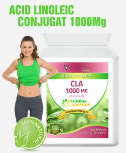 Acid Linoleic Conjugat CLA 1000Mg - Produs in Anglia - Cutie cu 60 Capsule