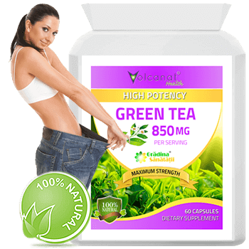 Green Tea 850 Mg per Capsula - Produs in Anglia