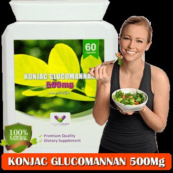 Fibre de Konjac Glucomannan 500Mg per Capsula pentru Detoxifiere