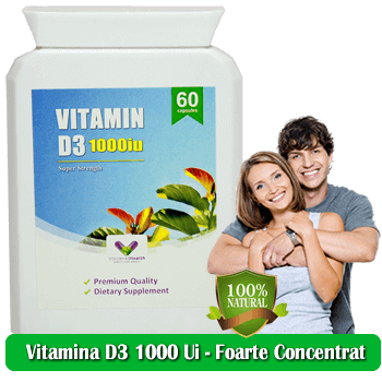 Vitamina D3 1000 Ui - Concentrat - Original - Produs in Anglia