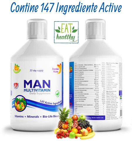 Complex Multivitamine + Aminoacizi + Minerale + Verdeturi pentru Barbati