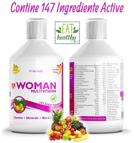 Complex Multivitamine + Aminoacizi + Minerale + Verdeturi pentru Femei