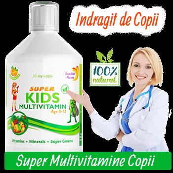 Complex de Multivitamine Lichide pentru Copii 5-12ani cu 30 Ingrediente Active Super Concentrate