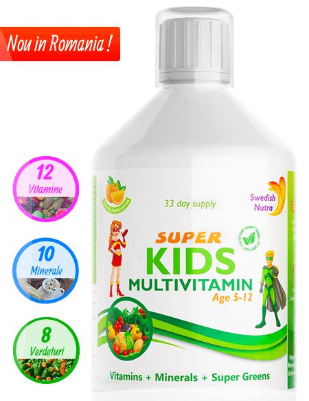 Multivitamine Lichide pentru Copii 5-12ani - 500ml - Super Concentrat Produs in Suedia Original