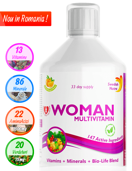 Multivitamine Lichide pentru Femei - 500ml - Super Concentrat Produs in Suedia Original