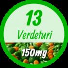 13 verdeturi si extracte din plante naturale 150MG