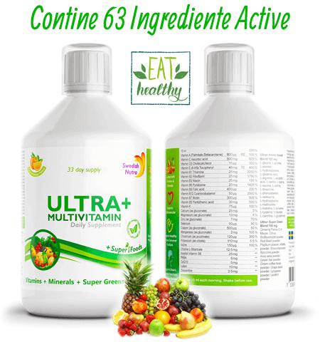 Complex Multivitamine + Aminoacizi + Minerale + Verdeturi Ultra+ Detox