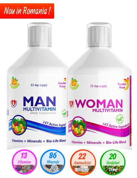 Multivitamine Lichide pentru Femei si Barbati - 500ml Super Concentrat Produs in Suedia Original