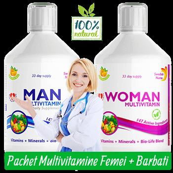Pachet de Multivitamine Lichide pentru Femei si Barbati cu 147 Ingrediente Active
